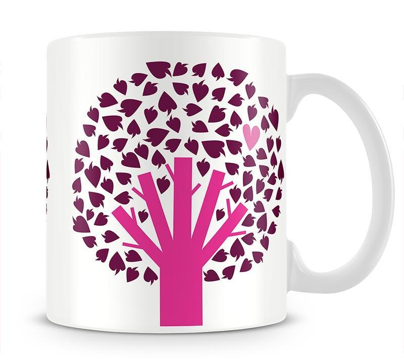 Heart Tree Mug - Canvas Art Rocks - 1
