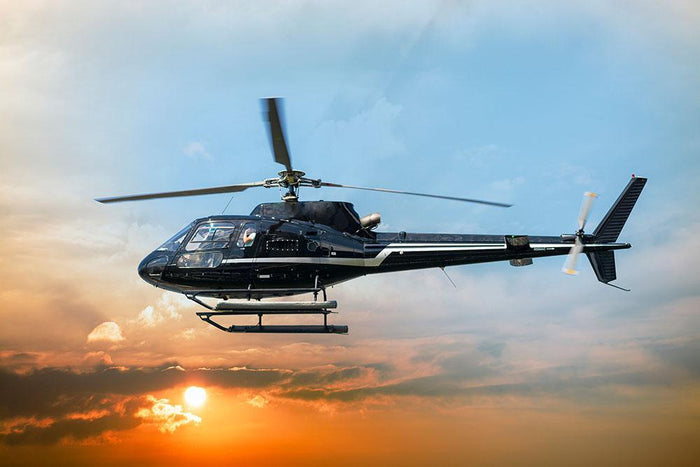 Helicopter for sightseeing Wall Mural Wallpaper