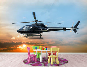 Helicopter for sightseeing Wall Mural Wallpaper - Canvas Art Rocks - 3