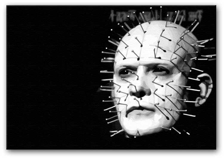 Hellraiser Pinhead Print - Canvas Art Rocks - 1