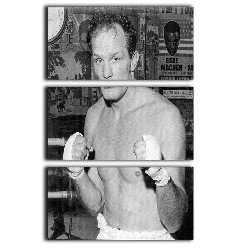 Henry Cooper boxer 3 Split Panel Canvas Print - Canvas Art Rocks - 1