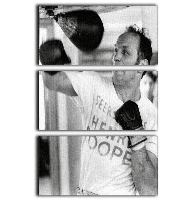 Henry Cooper in training 3 Split Panel Canvas Print - Canvas Art Rocks - 1