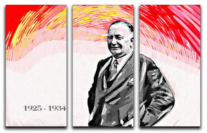 Herbert Chapman 3 Split Panel Canvas Print - Canvas Art Rocks - 1
