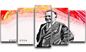 Herbert Chapman 5 Split Panel Canvas  - Canvas Art Rocks - 1