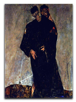 Hermits by Egon Schiele Canvas Print or Poster - Canvas Art Rocks - 1