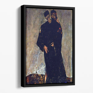 Hermits by Egon Schiele Floating Framed Canvas