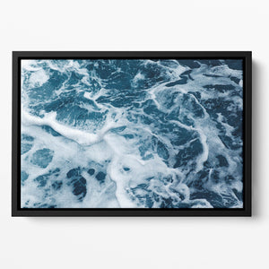 High Angle View Of Rippled Water Floating Framed Canvas