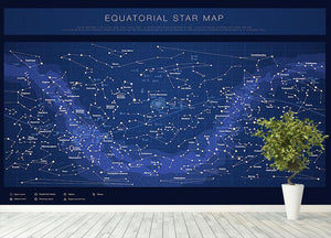 High detailed star map with names of stars contellations Wall Mural Wallpaper - Canvas Art Rocks - 4