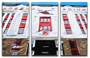 Highbury Stadium 3 Split Panel Canvas Print - Canvas Art Rocks - 1