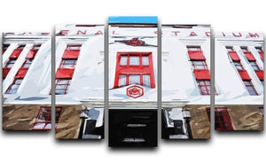 Highbury Stadium 5 Split Panel Canvas  - Canvas Art Rocks - 1