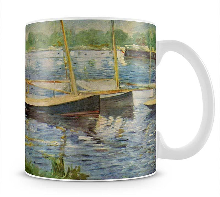 His embankment at Argenteuil by Manet Mug