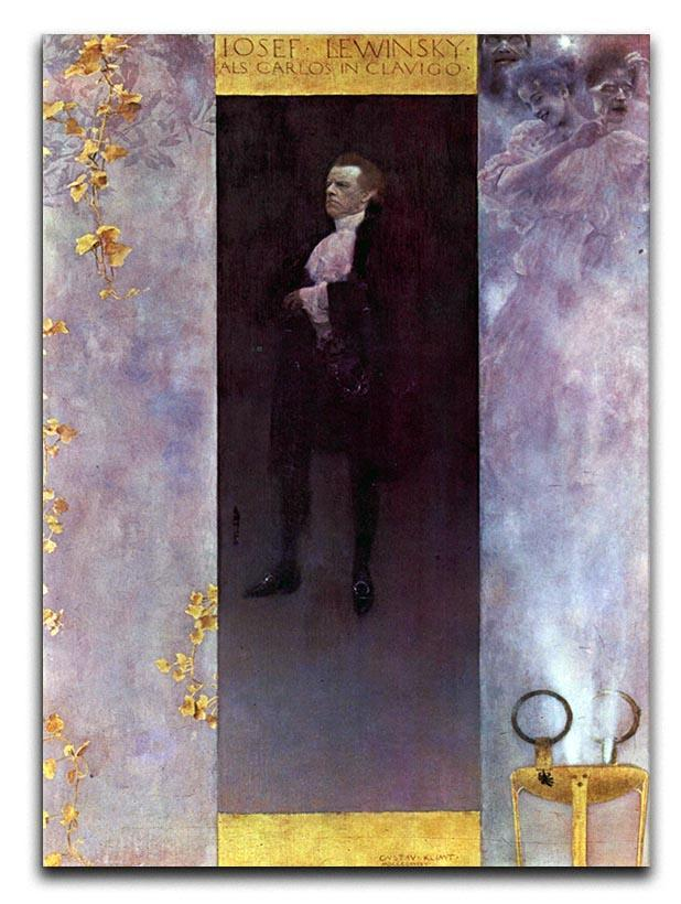 Hofburg actor Josef Lewinsky as Carlos by Klimt Canvas Print or Poster  - Canvas Art Rocks - 1