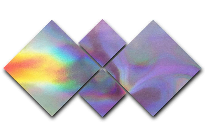 Holographic texture 2 4 Square Multi Panel Canvas