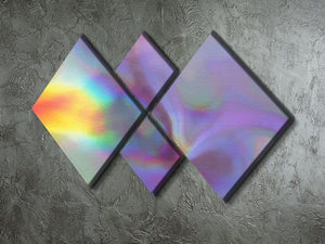 Holographic texture 2 4 Square Multi Panel Canvas  - Canvas Art Rocks - 2