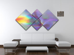 Holographic texture 2 4 Square Multi Panel Canvas  - Canvas Art Rocks - 3