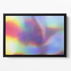 Holographic texture Floating Framed Canvas