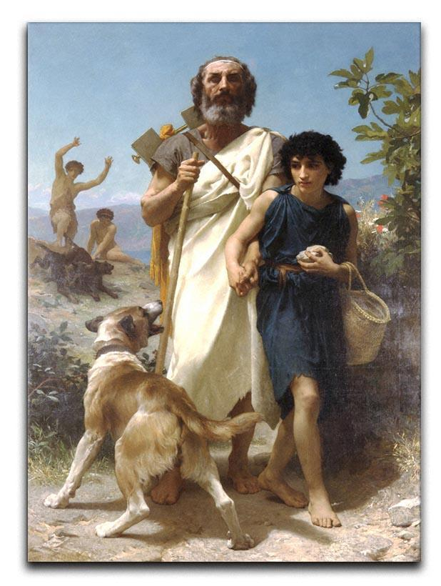 Homer and his Guide 1874 By Bouguereau Canvas Print or Poster  - Canvas Art Rocks - 1