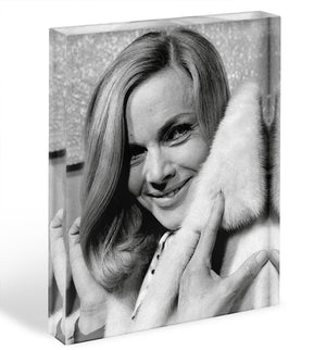 Honor Blackman 1968 Acrylic Block - Canvas Art Rocks - 1
