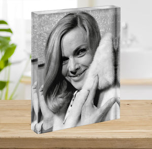Honor Blackman 1968 Acrylic Block - Canvas Art Rocks - 2