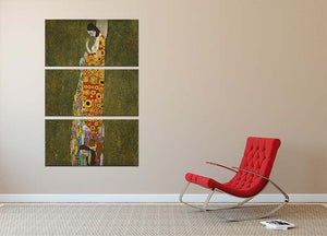 Hope II by Klimt 3 Split Panel Canvas Print - Canvas Art Rocks - 2