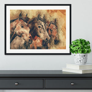 Horse Painting Framed Print - Canvas Art Rocks - 1