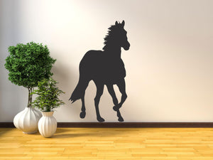 Horse Silhouette - Version 5 Wall Decal - Canvas Art Rocks - 1