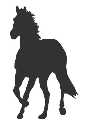 Horse Silhouette - Version 5 Wall Decal - Canvas Art Rocks - 3