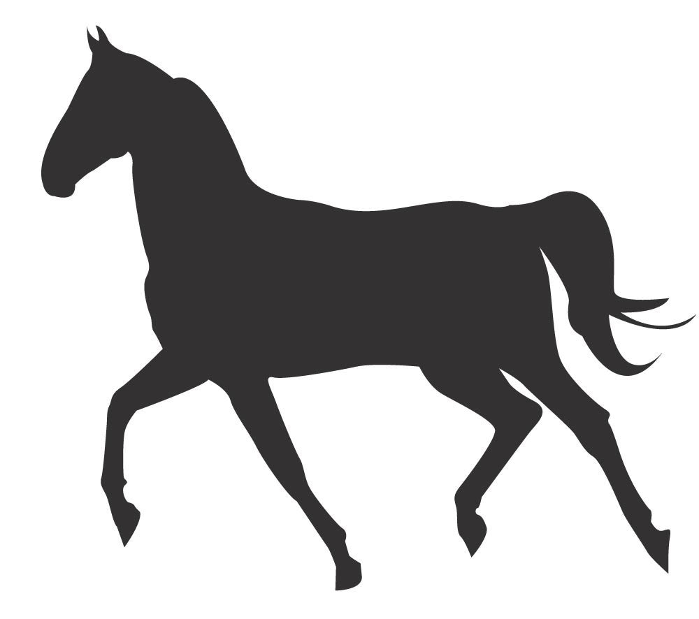 ... Horse Silhouette - Version 2 Wall Decal - Canvas Art Rocks - 3  sc 1 st  Canvas Art Rocks & Horse Silhouette - Version 2 Wall Decal | Canvas Art Rocks