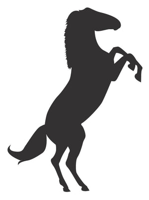 Horse Silhouette Wall Decal - Canvas Art Rocks - 2