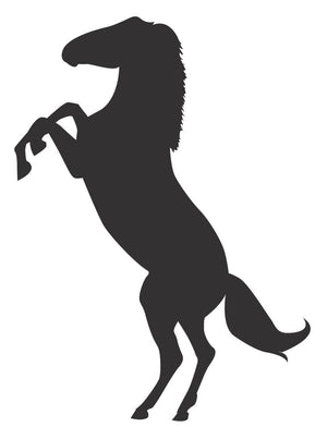 Horse Silhouette Wall Decal - Canvas Art Rocks - 3