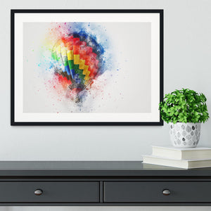 Hot Air Ballon Splash Framed Print - Canvas Art Rocks - 1