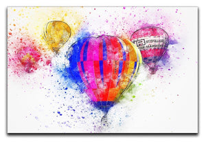 Hot Air Ballon Splash Version 2 Canvas Print or Poster  - Canvas Art Rocks - 1