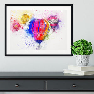 Hot Air Ballon Splash Version 2 Framed Print - Canvas Art Rocks - 1