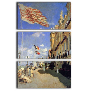 Hotel de Roches Noires a Trouville by Monet 3 Split Panel Canvas Print - Canvas Art Rocks - 1