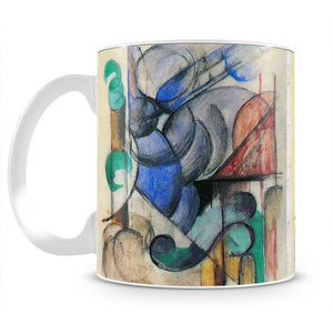 House in abstract landscape by Franz Marc Mug - Canvas Art Rocks - 2