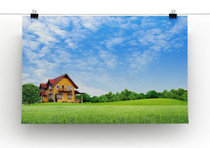 House on green field Canvas Print or Poster - Canvas Art Rocks - 2