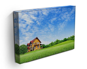 House on green field Canvas Print or Poster - Canvas Art Rocks - 3