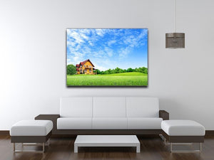 House on green field Canvas Print or Poster - Canvas Art Rocks - 4