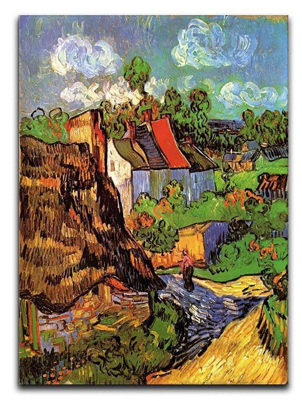 Houses in Auvers by Van Gogh Canvas Print & Poster  - Canvas Art Rocks - 1