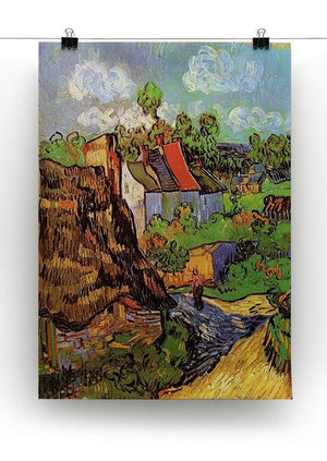 Houses in Auvers by Van Gogh Canvas Print & Poster - Canvas Art Rocks - 2