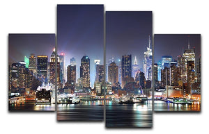 Hudson River with refelctions 4 Split Panel Canvas  - Canvas Art Rocks - 1