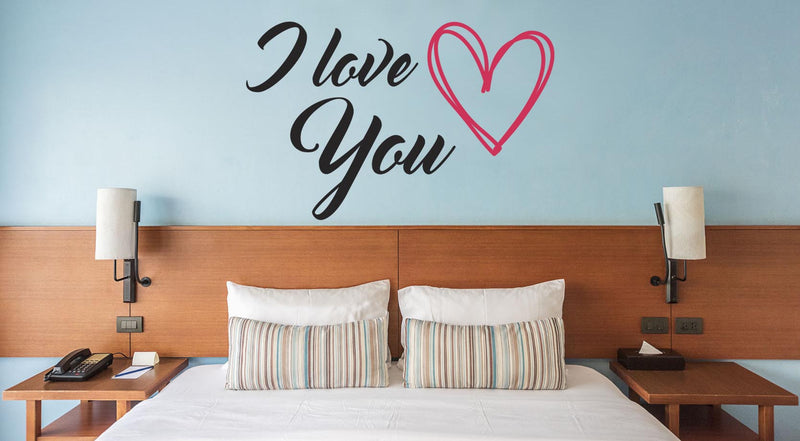 I Love You Wall Decal - Canvas Art Rocks - 1