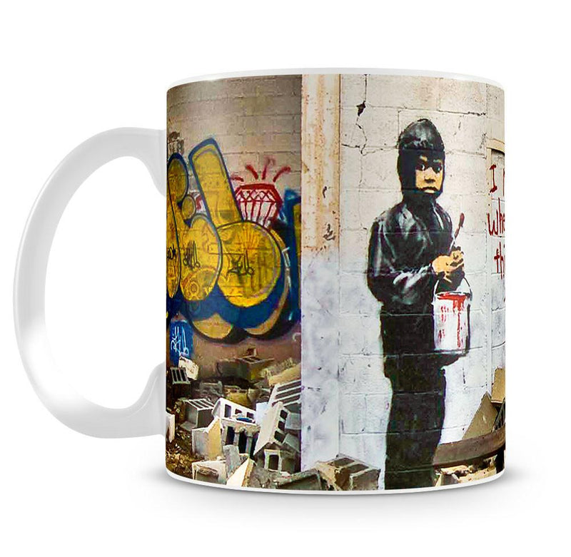 Banksy I Remember When All This Was Trees Cup - US Canvas Art Rocks