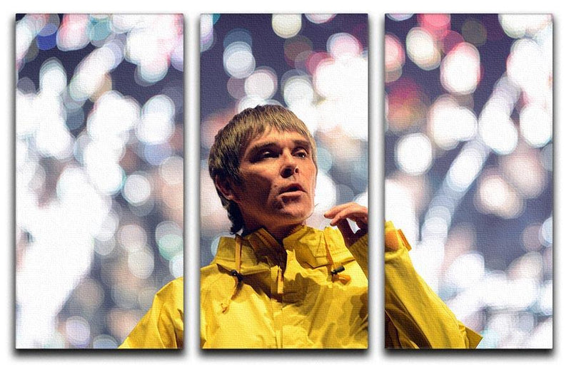 Ian Brown of the Stone Roses at the Isle of Wight 3 Split Panel Canvas Print - Canvas Art Rocks - 1