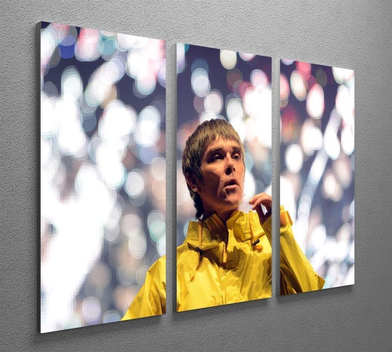 Ian Brown of the Stone Roses at the Isle of Wight 3 Split Panel Canvas Print - Canvas Art Rocks - 2