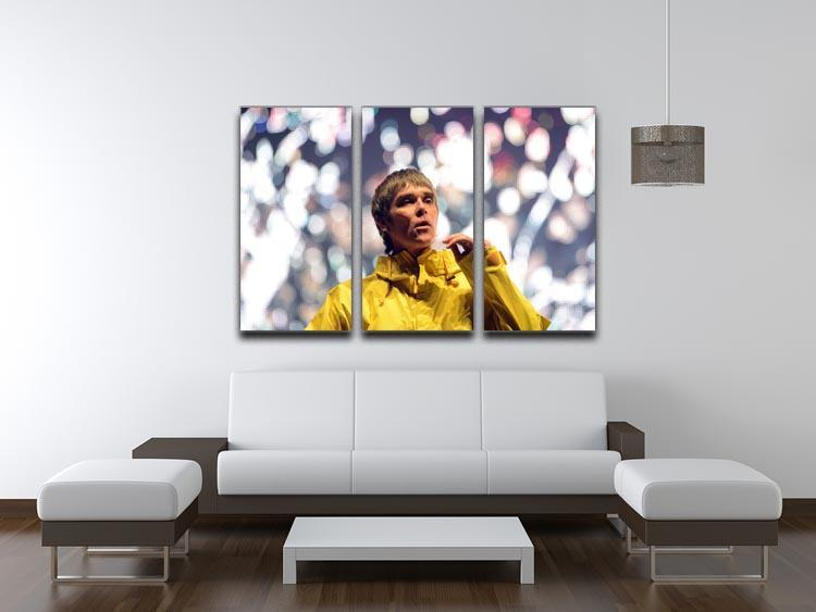 Ian Brown of the Stone Roses at the Isle of Wight 3 Split Panel Canvas Print - Canvas Art Rocks - 3