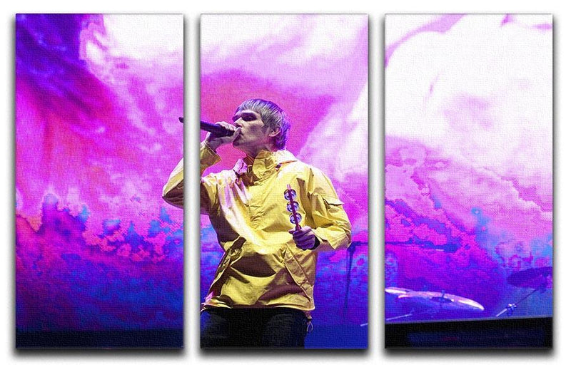 Ian Brown of the Stone Roses on stage 3 Split Panel Canvas Print - Canvas Art Rocks - 1