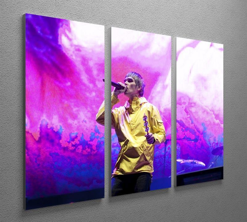 Ian Brown of the Stone Roses on stage 3 Split Panel Canvas Print - Canvas Art Rocks - 2