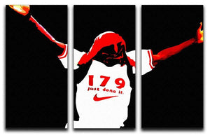 Ian Wright 3 Split Panel Canvas Print - Canvas Art Rocks - 1
