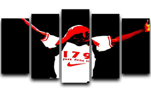 Ian Wright 5 Split Panel Canvas  - Canvas Art Rocks - 1
